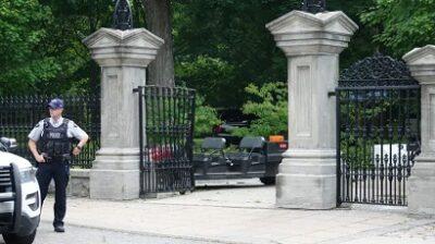 بوابة مكان اقامة رئيس الوزراء جوستن ترودو