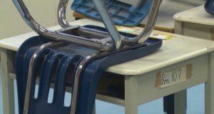 مقعد دراسي في احد مدارس كيبيك اثناء جائحة كورونا
