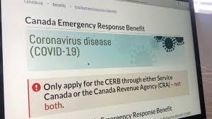 صورة توضح موقع برنامج CERB المساعدة المالية التي تقدمها الدولة الكندية
