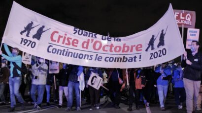 صورة ل الشبابُ المطالبين بالاستقلال يحييون ذكرى أزمة أكتوبر ويجددون الدعوة لاستقلال كيبيك
