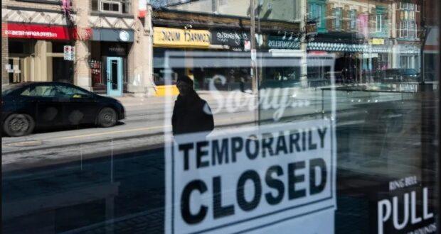 صورة لمتجر مغلق بسبب كورونا