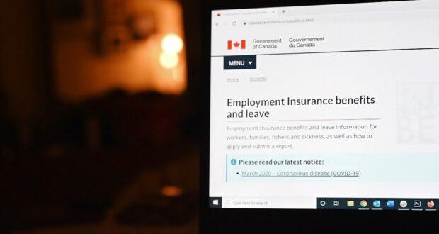صورة لشاشة حاسوب لوقع الحكومة الفيدرالية الكندية