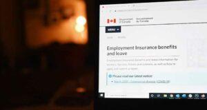 صورة لصفحة ويب ل برامج جديدة لدعم الكنديين ستبدأ للذين لم يذهبو للعمل بسبب الوباء