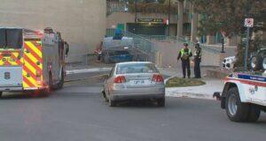 صورة للسيارة المسروقة المحطمة حسب ما صرحت شرطةث تورونتو
