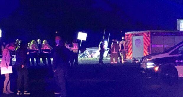 صورة للشرطة بعد غرق سيارة في لاك-سانت-لويس