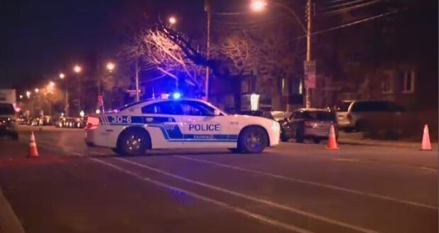 شرطة مونتريال تحقق في حادث سيارة في سانت زوتيك وشارع 16. بعد اصطدام المشاة بالسيارة.