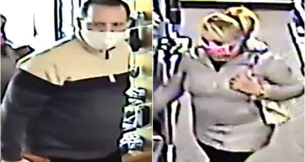صورة للمشتبه بهما في عملية السرقة حيث البحث عن المشتبه بهم بسرقة بطاقة ذاكرة تحتوي على صور لطفل يخضع لعلاج السرطان