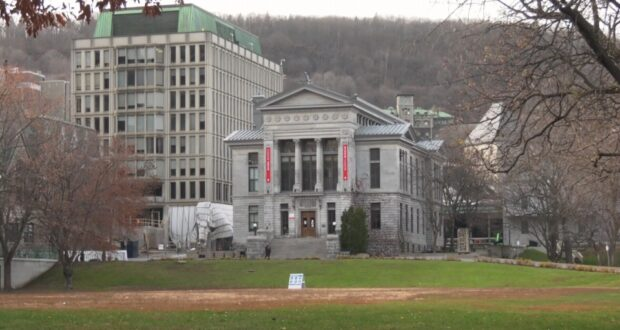 صورة لمباني جامعة ماكجيل حيث طالب في جامعة ماكجيل يقاضي الجامعة والصحيفة الطلابية بسبب مزاعم بالاعتداء الجنسي