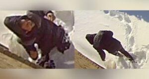 صورتُظهر لقطات أمنية التقطتها شرطة لافال رجلاً يُزعم تورطه في حريق متعمد حيثة الشرطة تبحث عن رجل يُزعم تورطه في حريق متعمد لمنزل في لافال