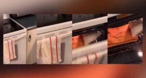 صورة من أحد الفيديوهات على منصة tIKtOK ،حيث تحقق الشرطة بعد أن صرحت امرأة بمعاداتها للسامية خلال فيديو نُشر على TikTok