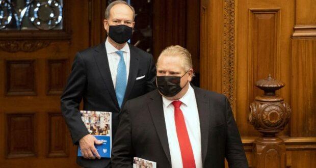 صورة لللوزير فورد حيث أولياء الأمور سيتلقون ما لا يقل عن 400 دولار أمريكي كدفعات للجائحة في أونتاريو