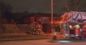 صورة لموقع الحريق الذي أدى لموت شخص، حيث موت شخص واحد بعد اندلاع حريق في منزل في شمال يورك
