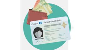 صورة لأعلان SAAQ في كيبيك أنه سيخفض رسوم تجديد رخصة القيادة بعد أن أبلغ عن فائض هائل من الأموال. حيث رسوم رخصة القيادة في كيبيك سيتم تخفيضها؛ سيدفع السائقون 23 دولارًا فقط