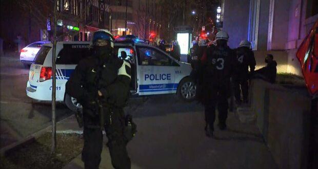 صورة لضينتريال أثناء حظر التجوال، حيث اط شرطة موحظر التجوال في مونتريال يبدأ من الساعة 9:30؛ ارتفاع المخالفات إلى 511 هذا الأسبوع