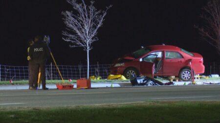 صورة لامرأة توفيت بعد حادث تحطم ليل الخميس في برامبتون.موت امرأة في حادث تصادم وقع ليلاً في برامبتون في أونتاريو